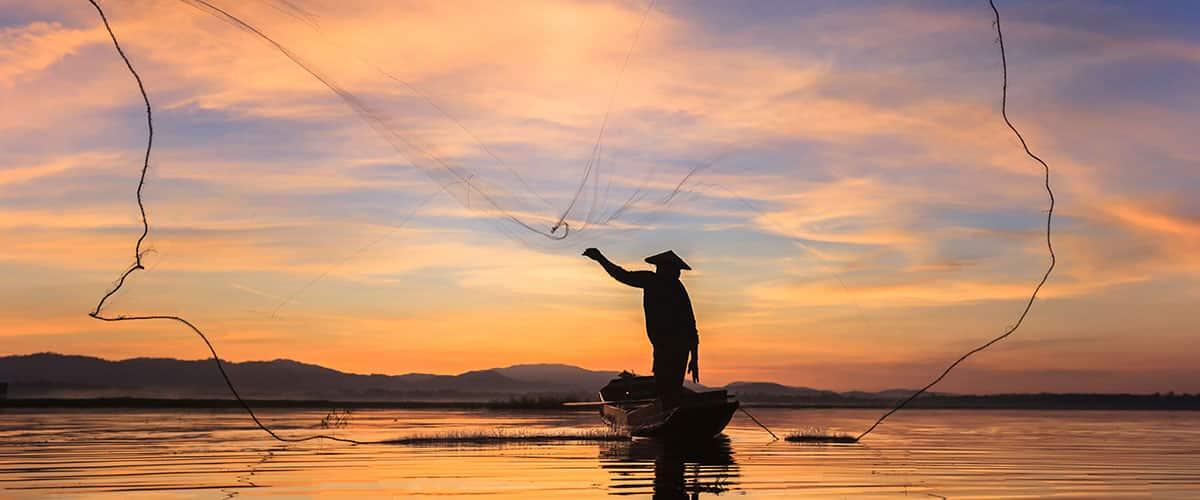 Fischer Sonnenaufgang Tor zur Seele